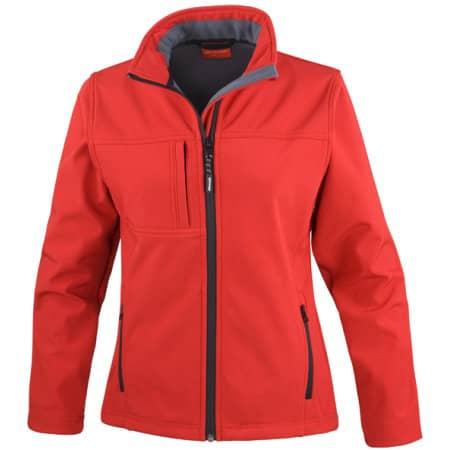 Ladies` Classic Soft Shell Jacket in Red von Result (Artnum: RT121F