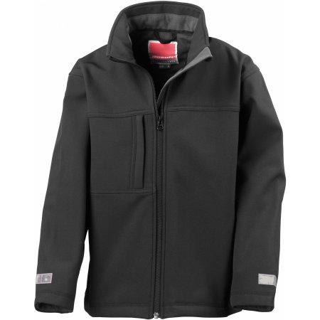 Junior Classic Soft Shell Jacket in Black von Result (Artnum: RT121J