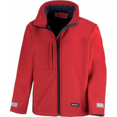Youth Classic Soft Shell Jacket in Red von Result (Artnum: RT121Y