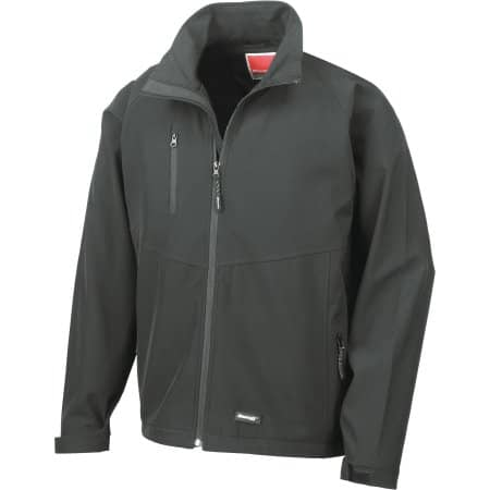 Men`s Base Layer Soft Shell Jacket in Black von Result (Artnum: RT128M