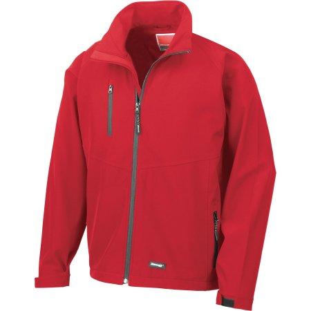 Men`s Base Layer Soft Shell Jacket in Red von Result (Artnum: RT128M