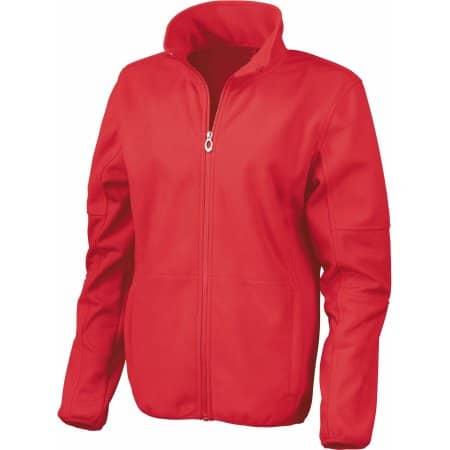 Women`s Osaka Combed Pile Soft Shell Jacket in Red von Result (Artnum: RT131F