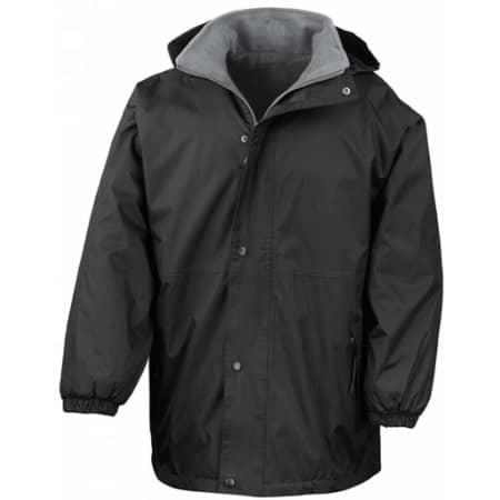 Reversible Stormdri Jacket in Black|Grey von Result (Artnum: RT160A