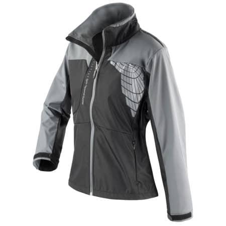 Ladies` 3 Layer Softshell Jacket in Black|Grey von SPIRO (Artnum: RT175F