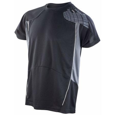 Training Shirt in Black|Grey von SPIRO (Artnum: RT176M