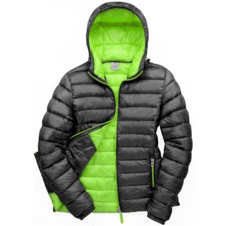 Ladies` Snow Bird Padded Jacket in Black|Lime von Result (Artnum: RT194F
