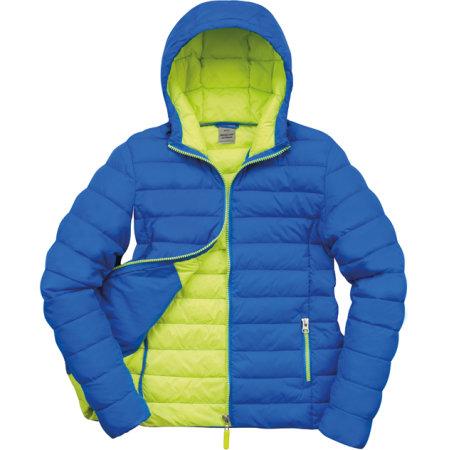Ladies` Snow Bird Padded Jacket in Ocean Blue|Lime von Result (Artnum: RT194F