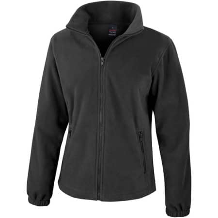 Ladies` Fashion Fit Outdoor Fleece Jacket in Black von Result Core (Artnum: RT220F