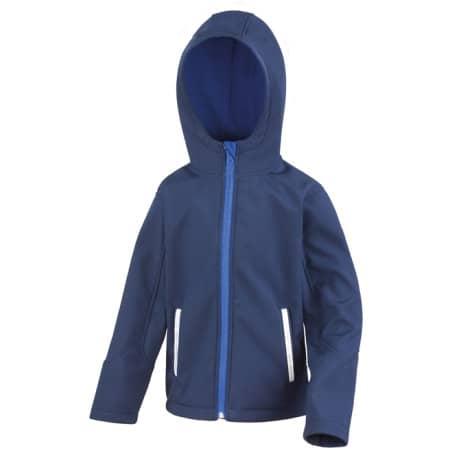 Junior Hooded Soft Shell Jacket in Navy|Royal von Result Core (Artnum: RT224J