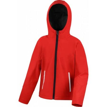 Youth Hooded Soft Shell Jacket in Red|Black von Result Core (Artnum: RT224Y