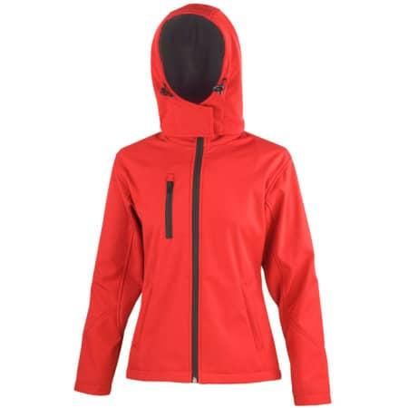 Ladies` TX Performance Hooded Soft Shell Jacket in Red|Black von Result Core (Artnum: RT230F