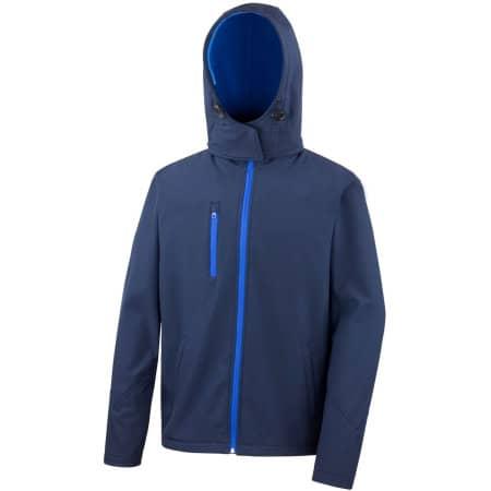 Men`s Core Lite Hooded Soft Shell Jacket in Navy|Royal von Result Core (Artnum: RT230M