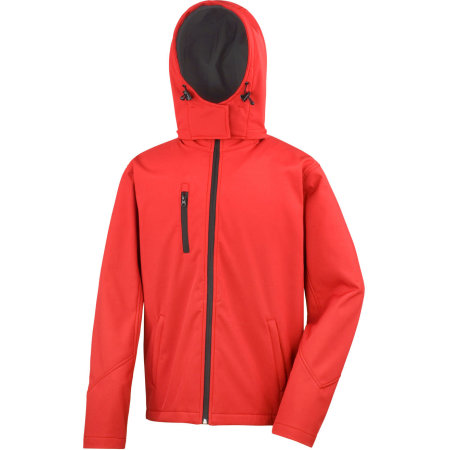 Men`s Core Lite Hooded Soft Shell Jacket in Red|Black von Result Core (Artnum: RT230M