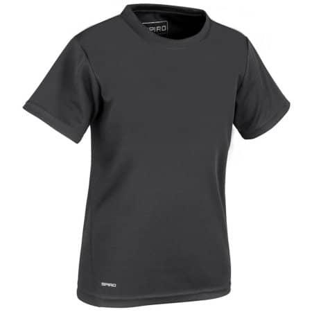 Junior Quick Dry T-Shirt in Black von SPIRO (Artnum: RT253J