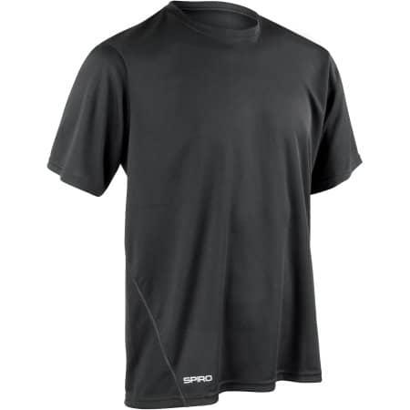 Men`s Quick Dry Shirt in Black von SPIRO (Artnum: RT253M