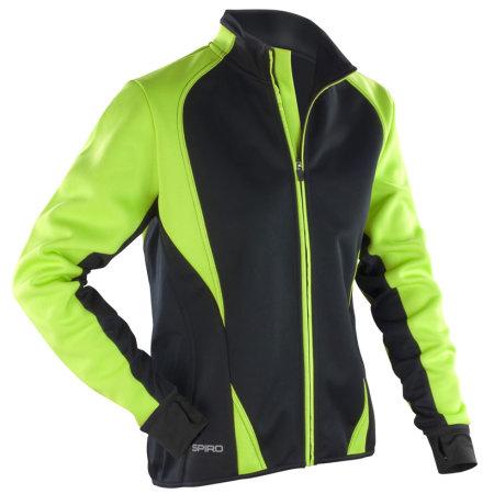 Ladies` Freedom Softshell Jacket in Lime|Black von SPIRO (Artnum: RT256F