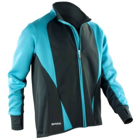 Men`s Freedom Softshell Jacket in Aqua|Black von SPIRO (Artnum: RT256M