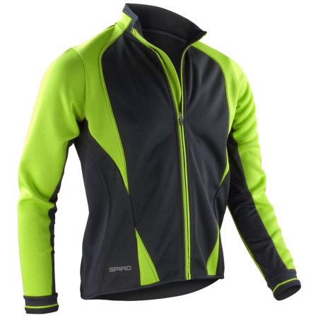 Men`s Freedom Softshell Jacket in Lime|Black von SPIRO (Artnum: RT256M