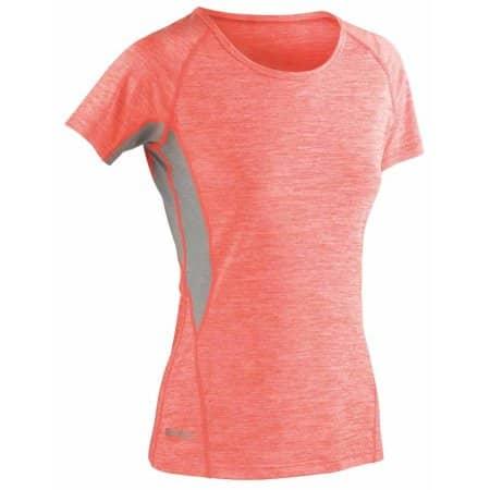 Fitness Women`s Tech Panel Marl T-Shirt von SPIRO (Artnum: RT270F