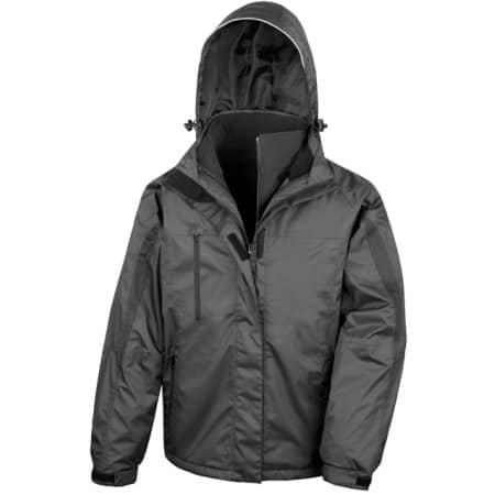 Men`s 3 in 1 Softshell Journey Jacket in Black|Black von Result (Artnum: RT400