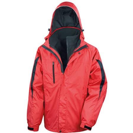 Men`s 3 in 1 Softshell Journey Jacket in Red|Black von Result (Artnum: RT400