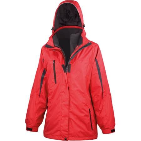 Ladies` 3 in 1 Softshell Journey Jacket in Red|Black von Result (Artnum: RT400F