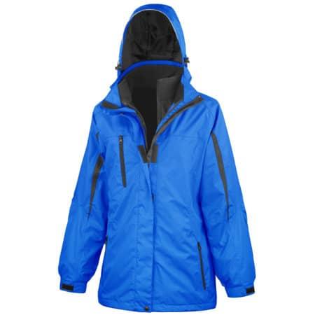 Ladies` 3 in 1 Softshell Journey Jacket in Royal|Black von Result (Artnum: RT400F