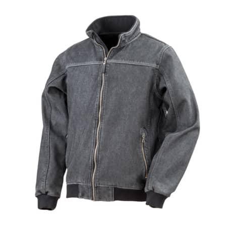 Denim Softshell Jacket in Washed Black von Result (Artnum: RT406