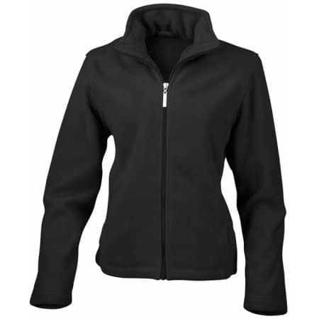 Women`s Micro Fleece Jacket in Black von Result (Artnum: RT85F