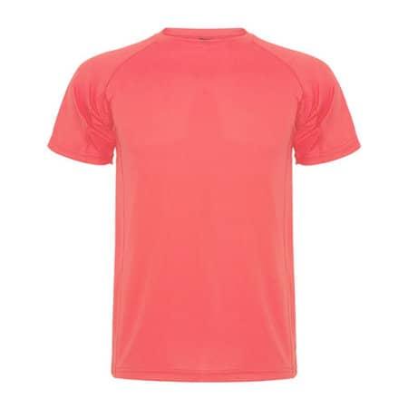 Montecarlo T-Shirt in Fluor Coral von Roly (Artnum: RY0425