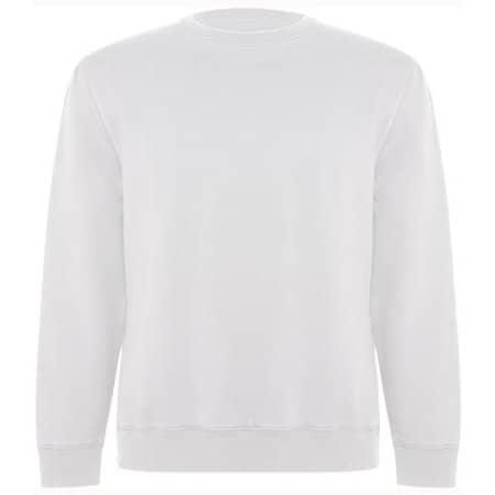 Batian Organic Sweatshirt in White 01 von Roly Eco (Artnum: RY1071