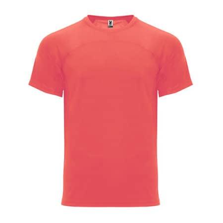 Monaco T-Shirt in Fluor Coral von Roly (Artnum: RY6401