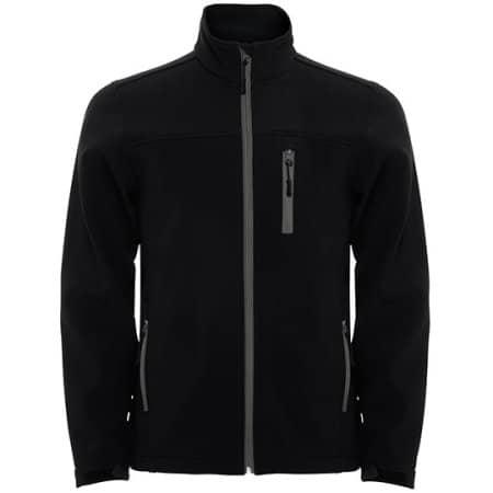 Antartida Softshell Jacket in Black von Roly (Artnum: RY6432