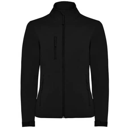Nebraska Woman Softshell Jacket in Black von Roly (Artnum: RY6437