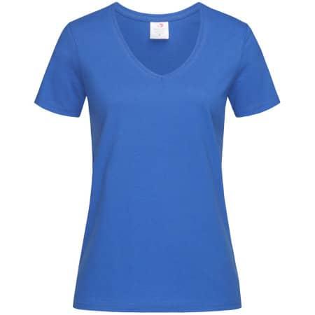 Classic-T V-Neck for women in Bright Royal von Stedman® (Artnum: S279