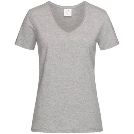 Classic-T V-Neck for women in Grey Heather von Stedman® (Artnum: S279