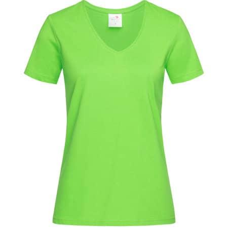 Classic-T V-Neck for women in Kiwi Green von Stedman® (Artnum: S279