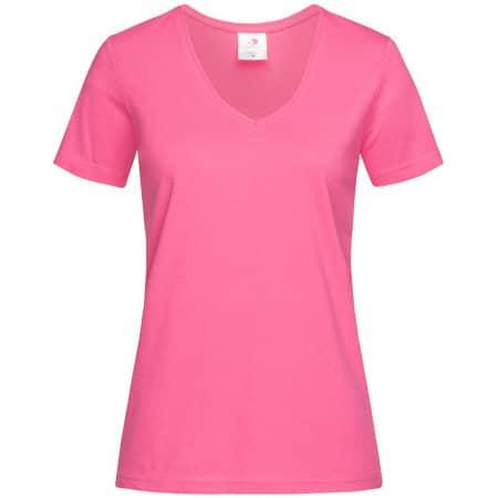 Classic-T V-Neck for women in Sweet Pink von Stedman® (Artnum: S279