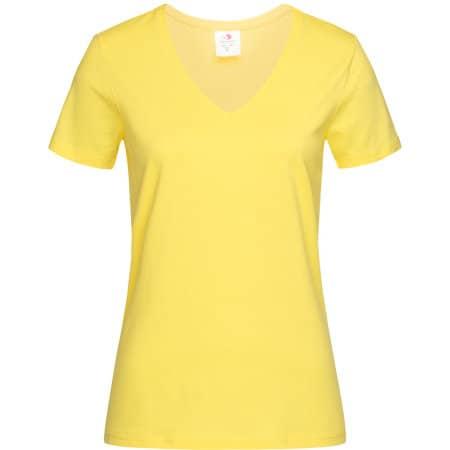 Classic-T V-Neck for women in Yellow von Stedman® (Artnum: S279