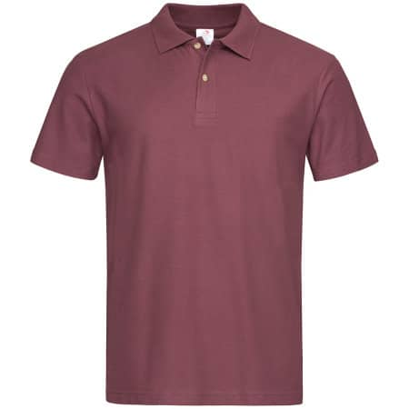 Short Sleeve Polo in Burgundy Red von Stedman® (Artnum: S510