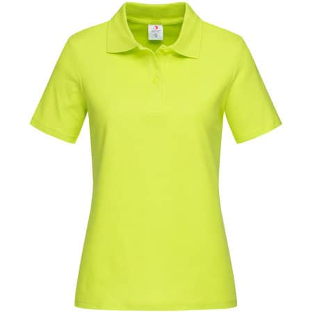 Short Sleeve Polo for women in Bright Lime von Stedman® (Artnum: S519