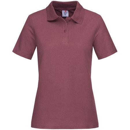 Short Sleeve Polo for women in Burgundy Red von Stedman® (Artnum: S519