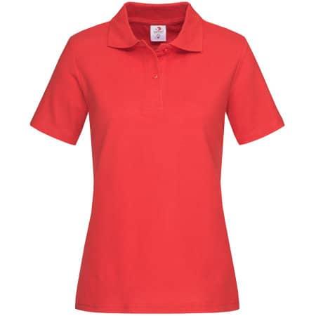 Short Sleeve Polo for women in Scarlet Red von Stedman® (Artnum: S519