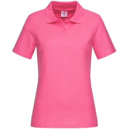 Short Sleeve Polo for women in Sweet Pink von Stedman® (Artnum: S519