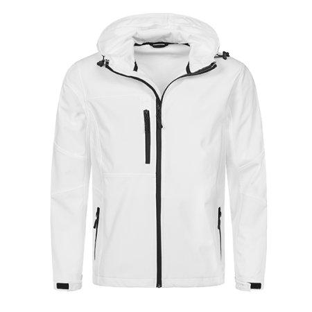 Active Softest Shell Hooded Jacket in White von Stedman® (Artnum: S5240