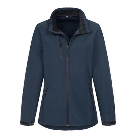 Active Softest Shell Jacket for women in Marina Blue von Stedman® (Artnum: S5330