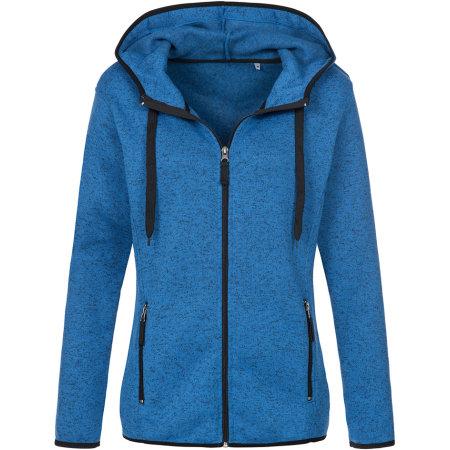 Active Knit Fleece Jacket for women in Blue Melange von Stedman® (Artnum: S5950