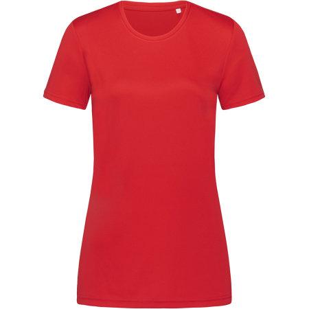 Active Sports-T Crew Neck for women in Crimson Red von Stedman® (Artnum: S8100