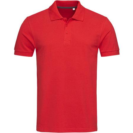 Harper Polo Short Sleeve in Crimson Red von Stedman® (Artnum: S9060