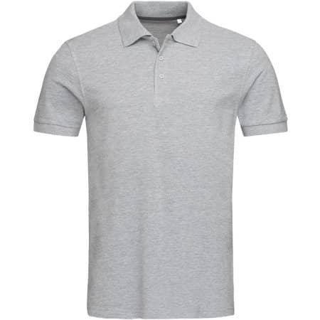 Harper Polo Short Sleeve in Grey Heather von Stedman® (Artnum: S9060